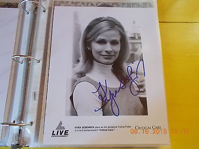 Kyra Sedgwick Signed  Critical Care  Photograph
