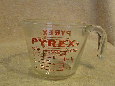 Vtg Pyrex Lab Measuring Glass 1 Cup or 8oz or 250ml Metric Corning USA
