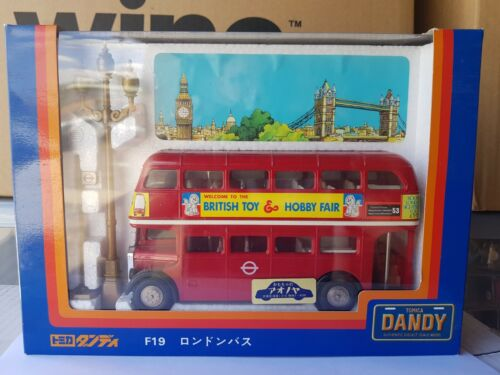 TOMICA DANDY F19 - LONDON BUS [RED] LONDON TOY AND HOBBY FAIR VHTF NEAR MINT