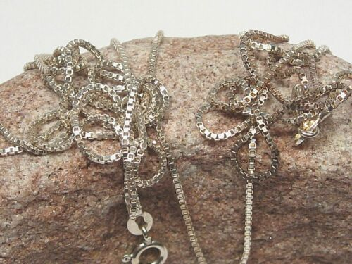 """2 Sterling Silver (.925) Box Chain Necklaces. 18"""" & 30"""", 1mm.  #3"""