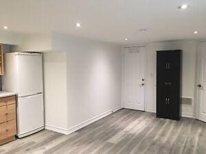 1 bedroom basement unit for lease