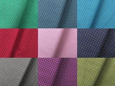Stoff Punkte Baumwolle Tupfen 1,5mm Tupfen 9 Farben Breite 150cm ab 50cm Punkte 9