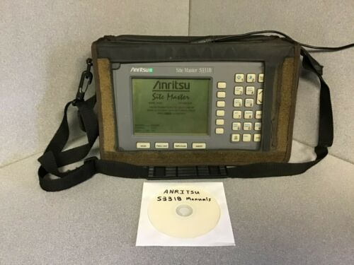 ANRITSU SITE MASTER S331B CABLE & ANTENNA ANALYZER  w/ manual, softbag, battery