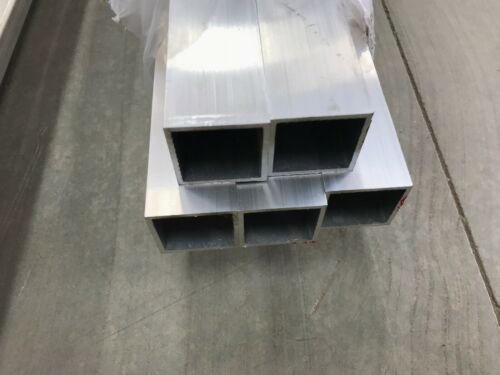 "1""X 1"" X 1/8""(.125) Wall 6061 T6 Aluminum Square Tube 12"" Piece"