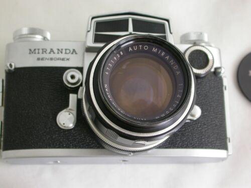 Miranda Sensorex SLR 35 mm Camera w Auto Miranda F=1:4 Lens  as is