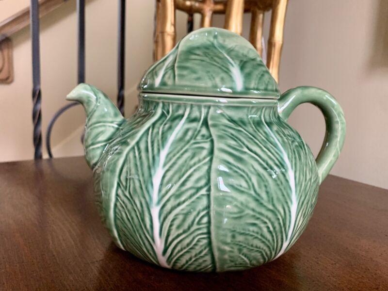 Bordallo Pinheiro Green Cabbage Tea Pot
