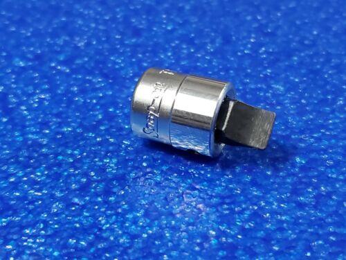 "SNAP ON 1/4"" DR 1/4"" FLAT TIP SHORT BIT SOCKET TM82 CLASSIC USA HAND TOOL LOT"
