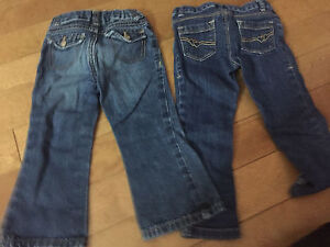 Size 2 T jeans and overalls