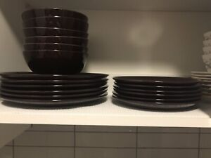 IKEA plates and bowls - plum purple