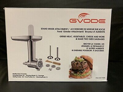 Gvode Food Grinder Attachment for KitchenAid Stand Mixers Including Sausage Tube Kitchenaid Mixer Grinder Attachment