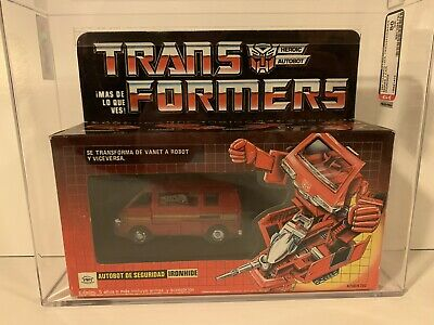 G1 Generation 1 Transformers IGA Plasticos Ironhide  MISB AFA 80 Sealed Rare