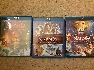 The Chronicles Of Narnia Blu Ray Trilogy 3 Movies Collection