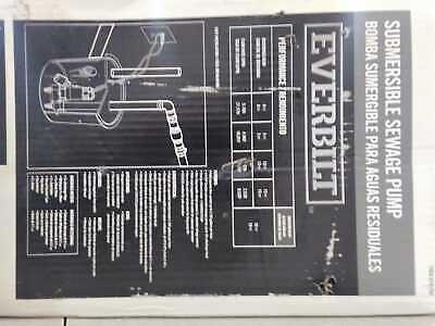 Everbilt 410 Hp Submersible Sewage Pump