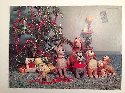 "1955 Lady and the Tramp Walt Disney Tru-Vue Print Photo Board 10.75"" x 14.5"""