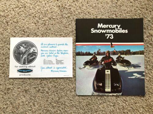 1973 Mercury Snowmobiles original sales literature.