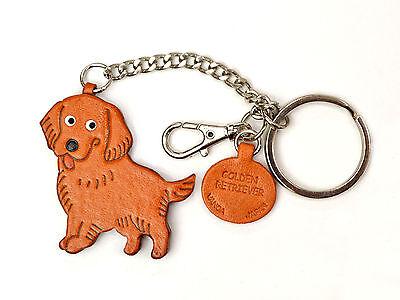 Golden Retriever Handmade 3D Leather Dog Bag/Ring Charm VANCA Made in Japan26062 3d Golden Retriever Charm