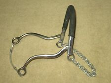 Stainless Steel BT-001 Rubber Nose Hackamore 8/""