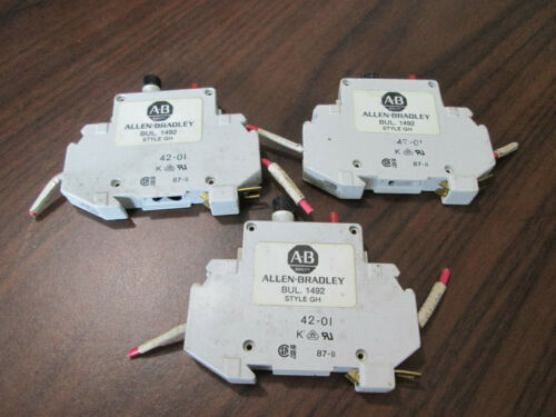 Lot of 3 Allen Bradley 1492-GH008 0.8 Amp Single Pole Circuit Breakers (White)