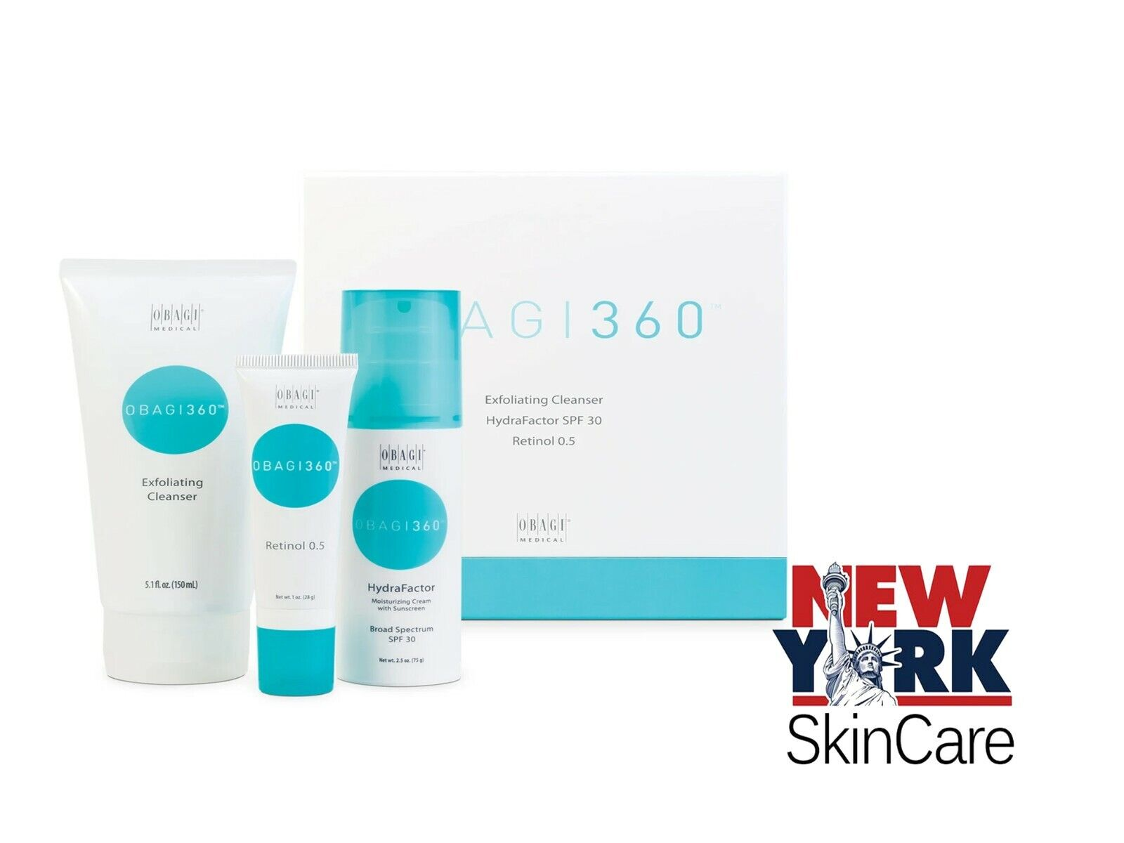 medical 360 system kit exfoliating cleanser hydrafactor