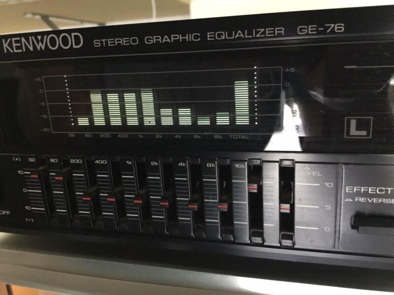 Kenwood GE-76 Stereo Graphic Equalizer 18 band EQ Spectrum Analyzer Japan