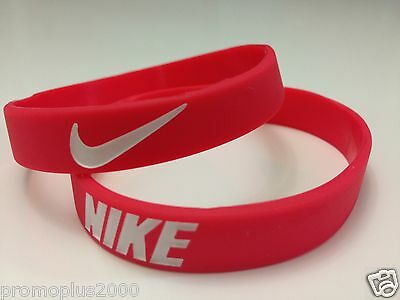 Nike Sport Baller Band Red w/wht Silicone Rubber Bracelet Wristband Buy 3 get 2