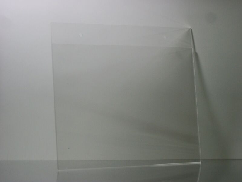 11 x 8.5 Clear Acrylic Wall mount sign holder display frames lot of 6