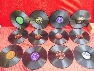 12 alte Schellackplatten__Grammophonpaltten__!