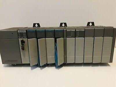 Allen-bradley Slc 500 10 Slot Rack W 503 Cpu And Io Modules Complete