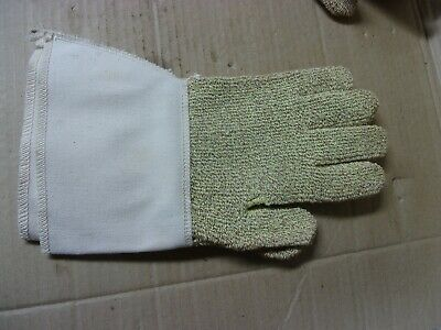 3 Pair Cleaning Polishing Gloves Kevlar Terry Cloth Cotton Blended Large Pair