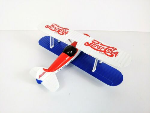 Vintage Limited Edition Pepsi Cola Die Cast Metal B Wing Airplane Coin Bank