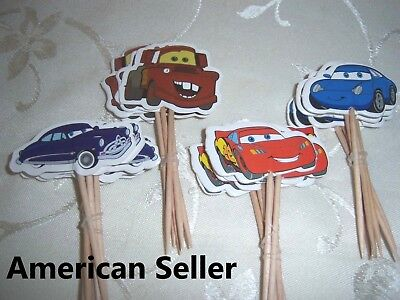 12 Pieces Cupcake Topper Cake Picks CARS McQueen (Cars Cupcakes)