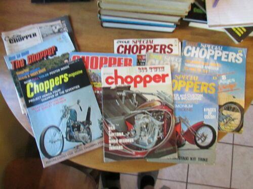 VINTAGE CHOPPER MOTORCYCLE MAGAZINES 1970 1972 1973