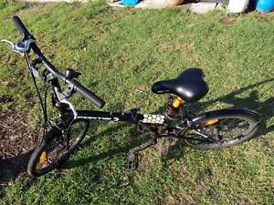Fortis Folding Bike Bicycle Black Compact Small 7 Gears