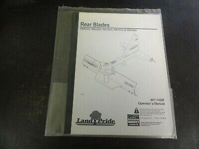 Land Pride Rb0548 Rb0560 Rb1560 Rb1572 Rb1584 Rear Blades Operators Manual 10