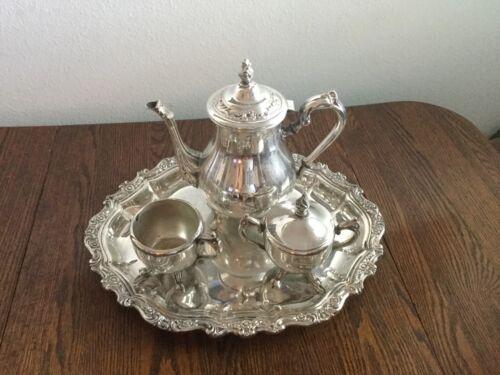 Wm. Rogers/International Silver Silver Plate Tea Service 4 pcs.