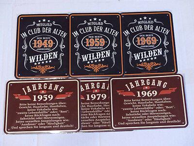 Blechschild Geburtstag Jahrgang 1959 1969 1979 Geschenk 40 50 60 70 Jahre ()