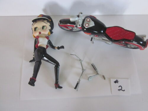 1998 Biker Betty Boop on Motorcycle with Hear Danbury Mint