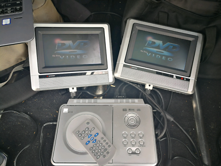 DSE Portable DVD player with dual wide-screen displays
