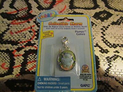 """WEBKINZ COLLECTIBLE CHARM """"PLUMPY CAMEO"""" FEATURE CODE ENCLOSED --RARE !!!"""