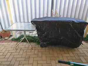 BBQ with cover and glass table Waikiki Rockingham Area Preview