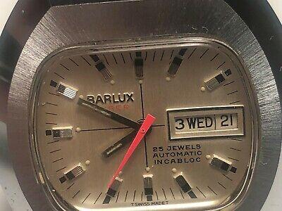 NEW OLD STOCK SWISS MADE BARLUX 25 JEWELS AUTOMATIC MEN'S WRISTWATCH ETA 2789