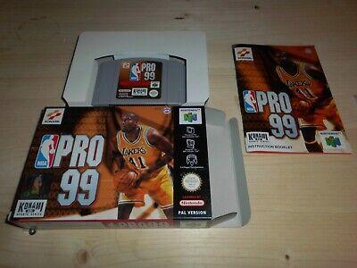 NBA Pro 99 WIE NEU/AS NEW/COMME NEUF EUR OVP/CIB Nintendo 64 N64 PAL