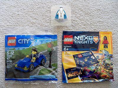 LEGO - City 30349 Nexo Knights 5004388 & Rare Young Vitruvius w/ Medallion - New