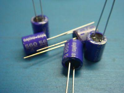 5 Sanyo Oscon 4sp560m 560uf 4v 105c Radial Electrolytic Capacitor