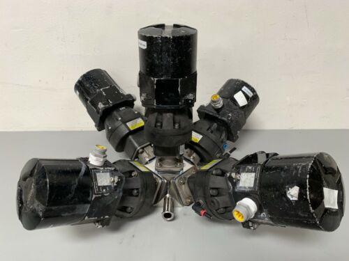 5 ITT Sherotec Stainless Steel Diaphragm Valves w/ Position Monitors