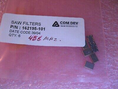 Com Dev Saw Filter 162195-101 456mhz Smt - Nos Qty 6