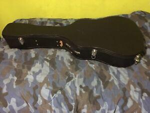 Black fender acoustic electric guitar