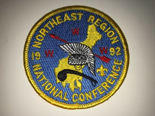 1992 ORDER OF THE ARROW NATIONAL CONFERENCE PATCH, NOAC, NORTHEAST REGION, NEW