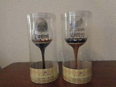 Halloween Handpainted Wine Glasses POTION DREW Stemware Set/2 Cypress Home NIP - Halloween Wine Glasses Painted