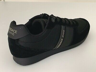 Versace Jeans E0GTBSA1 70943 Lina Fondo Mens VJ Trainers Black Shoes